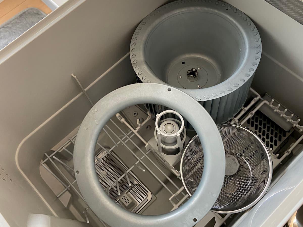 食洗機に入れて換気扇を洗う