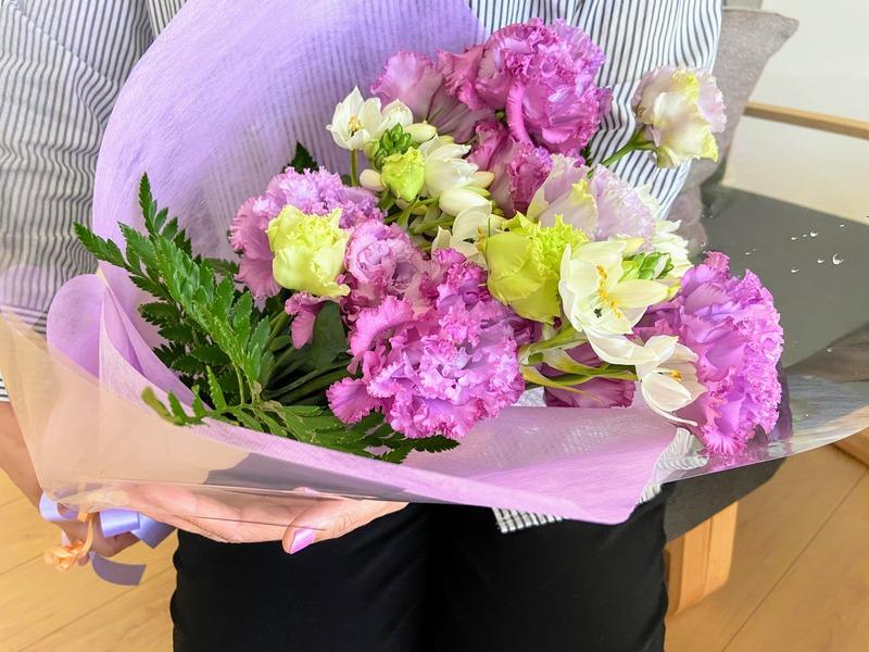 夫からの花束