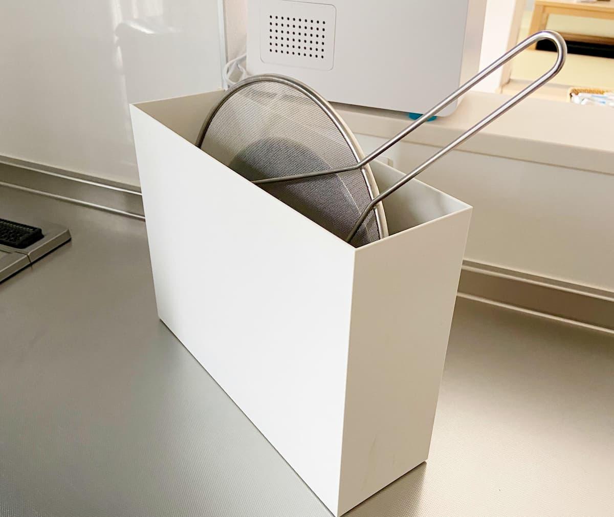 無印良品のファイルボックスをキッチンで使う