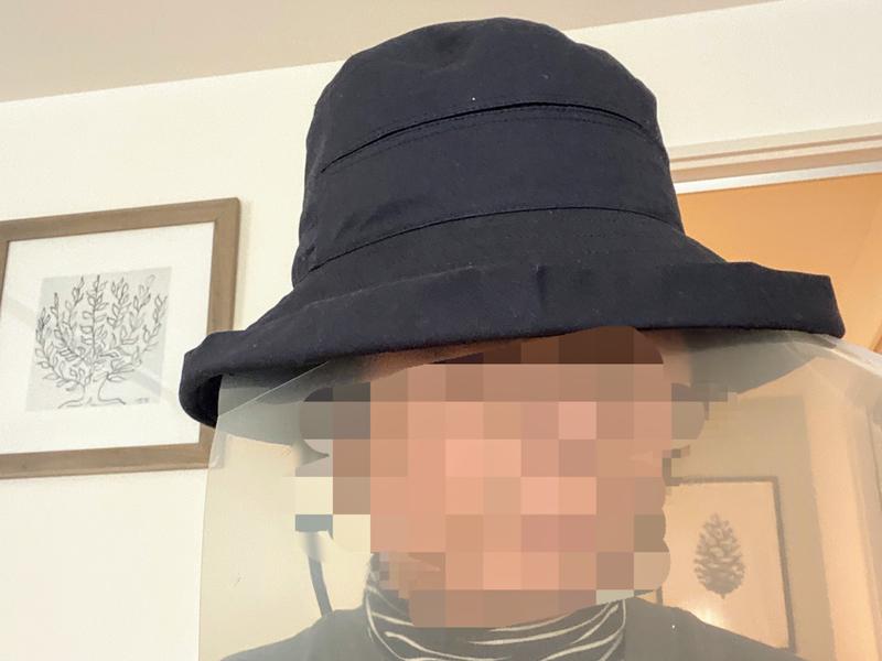 フェイスカバー付き帽子の手作り
