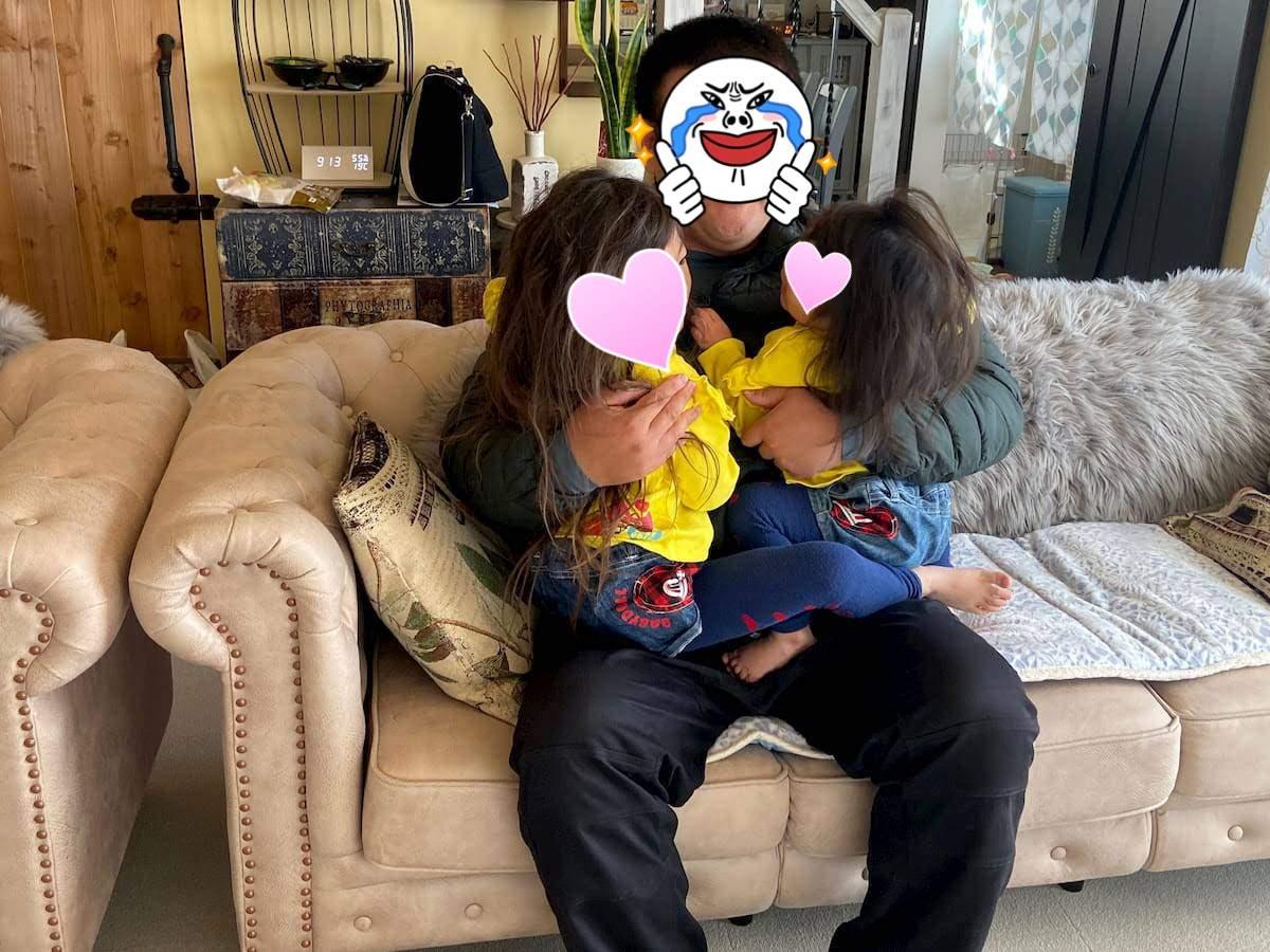 夫と子供たち