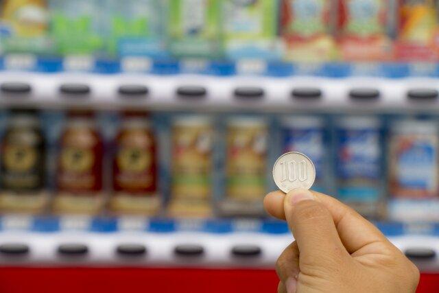 自動販売機のジュース
