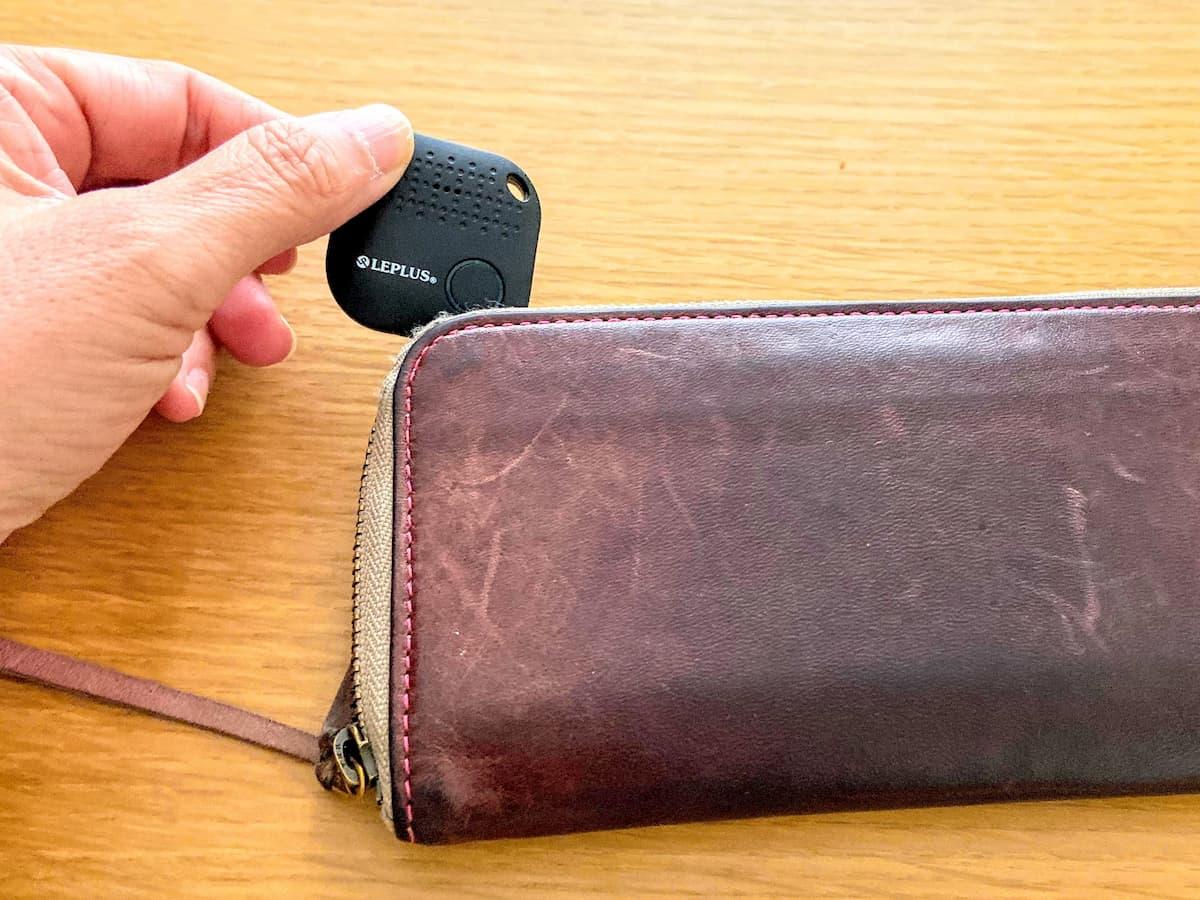 Mikkeを財布に入れてみた