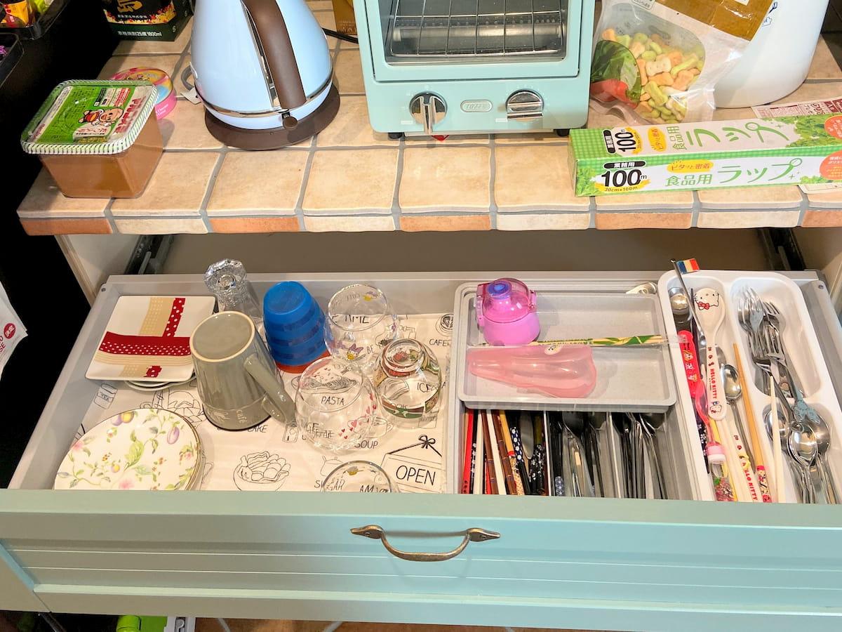 食器棚の引き出しビフォーアフター