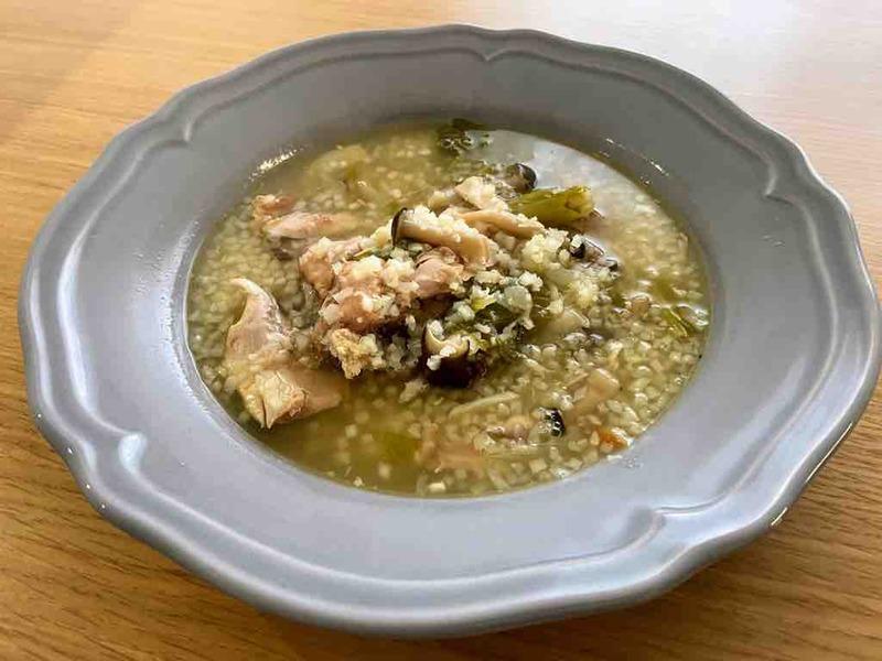 ロティサリーチキンのリメイクスープ