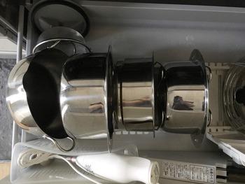 キッチンの十徳鍋収納
