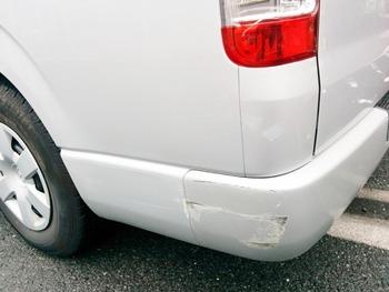 車の外装に変なへこみや傷