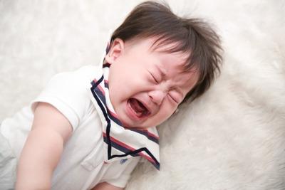 アトピーっ子、泣くのも大事