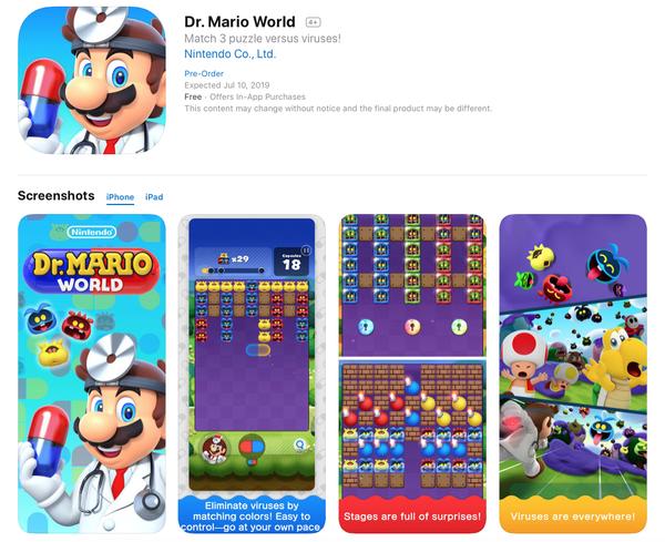「ドクターマリオワールド」はAppStoreとGooglePlayで事前登録受付中のサムネイル画像