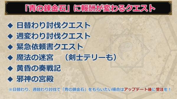【ドラクエ10】青の錬金石のために「アプデまでやっちゃダメー!」なクエストまとめのサムネイル画像