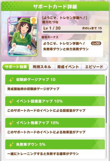 【ウマ娘】リセマラはサポートカード「ようこそ、トレセン学園へ! 駒川たづな」が人権か!?のサムネイル画像