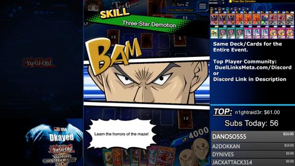 【デュエルリンクス】KC杯世界1位Dkayed氏の忍者デッキ動画がスゴい!のサムネイル画像