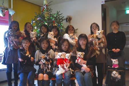 クリスマスパーティー 集合写真