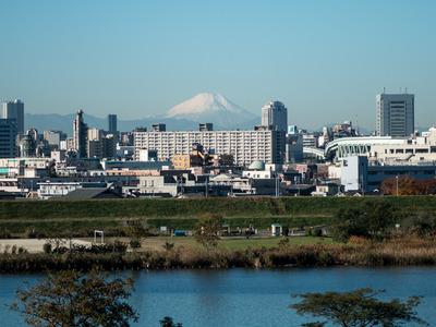 荒川と富士山