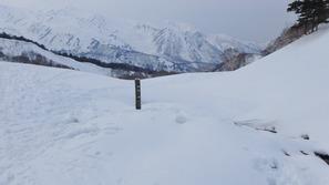 雪に埋もれていた「仙気ノ湯」