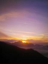 剱岳に沈む夕日