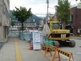 JR白馬駅前の道路工事