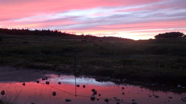 白馬大池の夕景