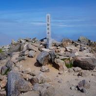 白山の最高峰、御前峰(ごぜんがみね、2,702m)