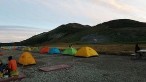 白馬大池のテント場
