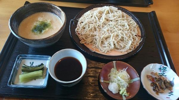 ざる蕎麦八方と、とろろかけ丼のセット@1,150円