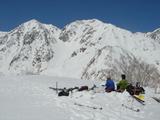 小日向山の山頂で昼食