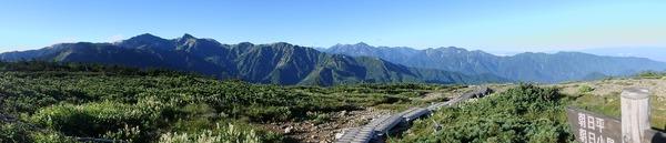 朝日岳からの大展望♪