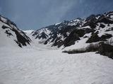 大雪渓を見渡せます