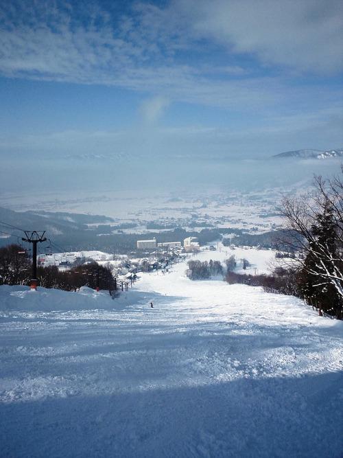木島平スキー場 第7ペアリフトから