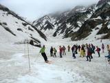 スキー滑走のデモンストレーション