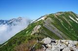 「船越の頭」から小蓮華山山頂を望む