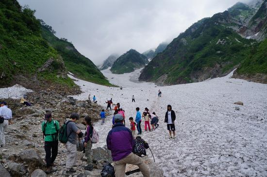 大雪渓で涼を楽しむ♪