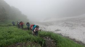 大樺沢(おおかんばさわ)コースを登る