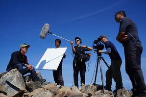 鹿島槍ヶ岳の山頂でインタビュー
