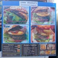 Little Alaskan'sのハンバーガーメニュー