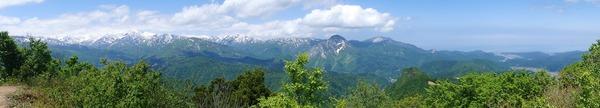 山頂からパノラマ撮影してみました