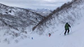 白馬乗鞍スキー場方面へ滑走!