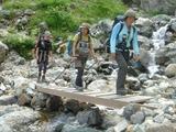 鑓温泉からの下山路に架かる橋