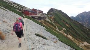 唐松岳頂上山荘の周辺