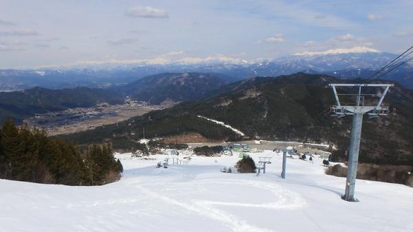 位山スキー場から望む飛騨山脈