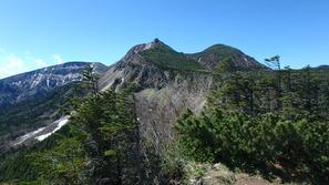 中山峠近くから見た東&西天狗岳