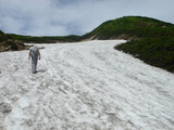 丸山直下の残雪