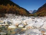 高瀬川と針ノ木岳