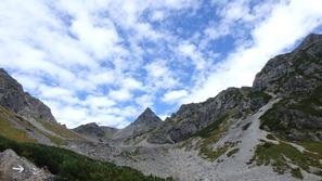 グリーンバンドから見た槍ヶ岳