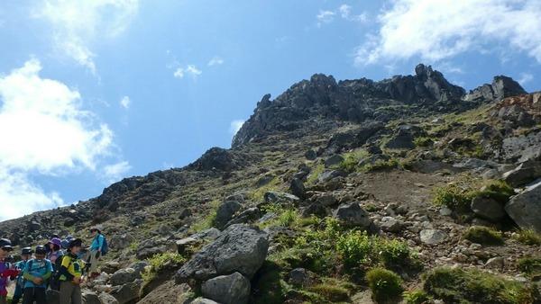 青空と溶岩ドーム