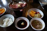 赤岳鉱泉さんの夕食はステーキでした!