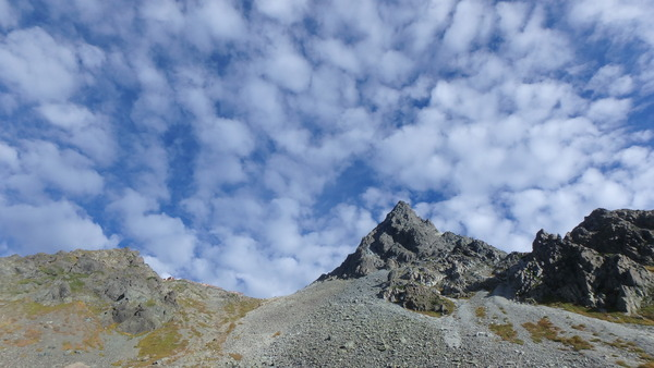 秋の雲と槍ヶ岳