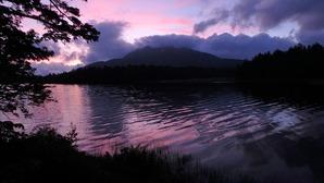 尾瀬沼の夕景