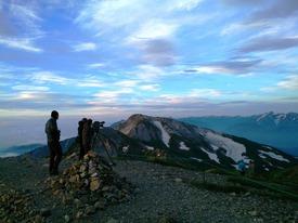 白馬の稜線で剱立山連峰を撮影