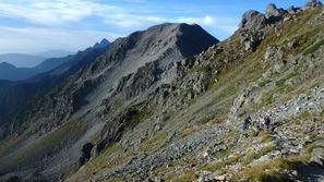 下山時も雄大な山岳景観が見られました